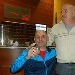 Hall y recepción del Hotel. Con Beto, disfrutando la caipirinha de las tardes !!!