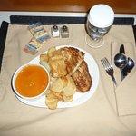 Room service - soup & sandwich