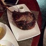 Tomahawk Steak.  Huge.