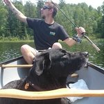 fishing&relaxing on Green Lake in a canoe