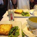 クロックムッシュとスープ