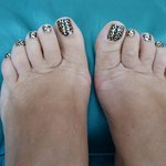 Pedicure with Minx toenails