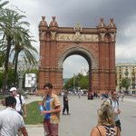 Arc de Triomf with Ben and the Fat Tire group