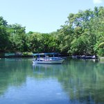 this is a fresh water bay across from the Cafe de Paris,boat tours.