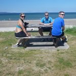 1 young norwegians on/ at the beach