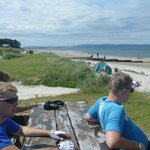 2 more young norwegians at/ on the beach