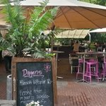 Another outdoor cafe near the theater building & park!