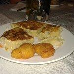tortilla y croquetas