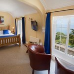 Double room with magnificent views over Lynmouth Bay