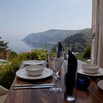 Dining Room with views over Lynmouth Bay