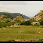 Valley of the Rocks looking across the cricket pitch