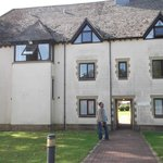 The outside of the annexe we stayed in