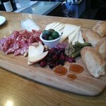 Cheese board at the Oxbow Cheese & Wine Merchant