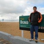 David na Playa Brava em Punta del Este.