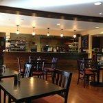 Cafe next to lobby.