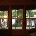 View from inside the cabin.  Unit # 47 Riverside Village