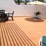 private sun terrace - very spacious - ground floor
