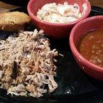 purely pork w. baked beans & vinegar slaw