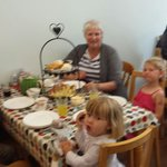 An amazing afternoon tea with Grandma and my three children.