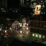 Nighttime view of Faneuil Hall from the Penthouse Balcony