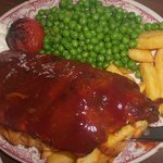 Huge plate of very meaty ribs - excellent. July 2014