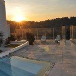 Area da piscina com vista para a Cordilheira