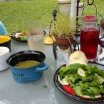 Lovely garden lunch