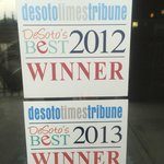 Winner of Best of Desoto since opening!