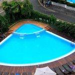 piscine par temps de pluie