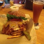 Smoked bacon burger