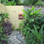Bungalow garden shower