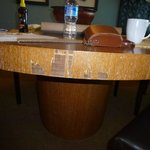dining table damaged -