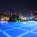 crystal tat beach resort and spa, main pool at night