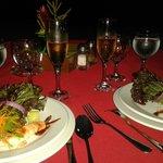 cena Romántica a la orilla del mar
