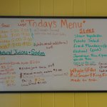 Menu today August 1, 2014