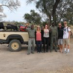 Game drives were usually with 6 people, ranger & tracker