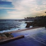 The infinity pools and the Sea of Cortez. 