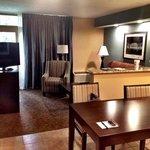 living room in 4th floor suite