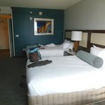 room with double beds in North Tower