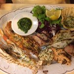 Mixed fish platter, simply amazing :)