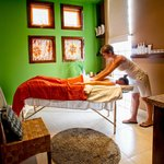 A massage at Sol Spa, our on-site full service spa
