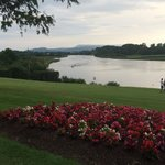 The lovely view from outside the Grill Bar at the Killyhevlin Hotel, Enniskillen, County Fermana