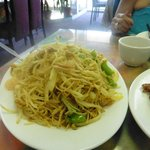 Singapore spicy rice noodles