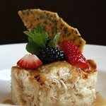 Coconut Sesame Bread Pudding