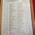 Wine menu in Wine Festival in Aldstadt