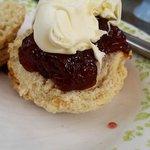 Fruit scone, jam & clotted cream. Gorgeous