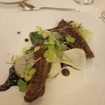 The duck with lentils and pak choi