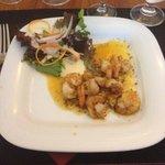 Shrimp salad starter. Aug 2014