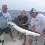 My daughter catching her first White Marlin!!! He was a fighter!!