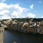 Panorama dalla terrazza sull'Arno